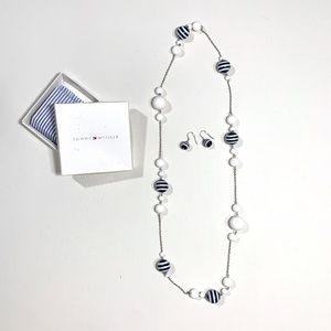 Tommy Hilfiger | Beaded Necklace & Earring Set
